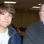 Arik and his comp teacher, Kevin Sullivan