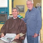 (from L) Bill and Don in the barber shop