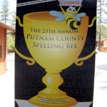 Spelling Bee poster as seen on the Idyllwild Arts campus