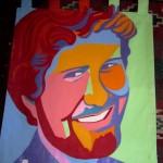 Casey banner by Idyllwild artist Marcia E. Gawecki