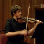 Leo, a 14-year-old violinist from Germany, played with authority