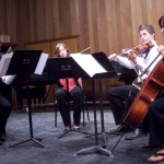 (from L) Michal, a violinist from Poland, played the Mozart piece with authority