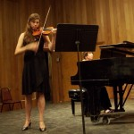 Anna, a German violinist, commanded the high notes in the Mendelssohn piece