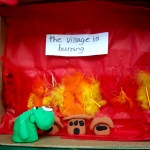 11-to-13-year olds use clay, construction paper, cardboard and feathers to illustrate