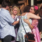 (from L) Chase, Jessie and Sasha get tearful about their last stage performance
