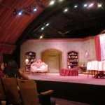 The set was spectacular with built-in bookcases and tall windows