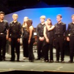 The 15 student percussionists take the stage for a final bow