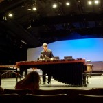 Dylan playing his solo on the marimba