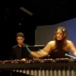 Guest soloist Naoko Takada Sharp on miramba