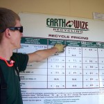 Andrew points to the former Earthwize price for mixed plastic bottles