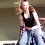 """Ellen King is one of the dancers in the """"chick fight"""""""