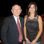 Holocaust survivor & author David Faber and Grace, from Idyllwild, at the Mt. San Jacinto College lecture