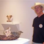 Debra Fritts' husband, Frank Chelton, showcases her work