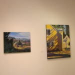 (From L) 'Double View Evening' and 'Tree Shadows at Sue's House' by Jessica Schiffman