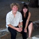 """(from L) Idyllwild Arts alum, Russell Bombgardner (shown with Kathryn) plays the sidekick in """"Wingman"""""""