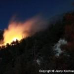 Fire near Black Mountain Sunday. Photo courtesy Jenny Kirchner.