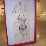 Frydmann's installation depicts a nude torso on the back