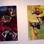 Esther Chung's dual paintings