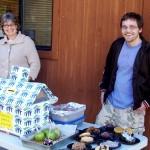 Chaperone Chris Wegener (right) hopes to instill lasting volunteerism among Idyllwild Arts students