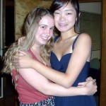 (from L) Regina (shown with friend Camille) will perform oboe at her senior recital Monday night
