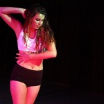 Sorrelle performing in one of the pieces in the Student Choreography Dance Concert