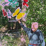 Idyllwild Sculptor Jan Jaspers-Fayer and his butterfly sphere