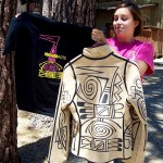 The IA Summer Program T-shirt shows similar Hopi designs created by Michael Kabotie