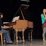 (from L) Kitty came back to Idyllwild Arts this summer to help out with a piano workshop