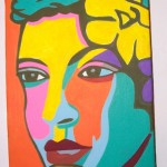 Art from 30 local artists are for sale like this Billie Holiday painting by Marcia E. Gawecki