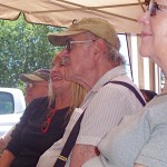 The crowd on Father's Day was captivated by Mary Otis' humorous stories