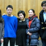 Viola Master Class with Ms. Kozasa. (from L) Sirayah, Alex, Ayane Kozasa, Kathy and Howard