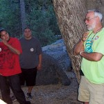 (from R) Daniel McCarthy talks with Cahuilla Indians in the class about rediscovering native plants