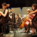 Tiffany (far right) will be playing her cello for grade schoolers at Idyllwild School
