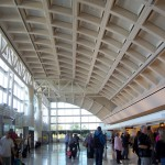 Ontario Airport still bustled with activity on Sunday, in spite of the strong winds
