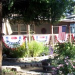 Idyllwild welcomes tourists with flags Memorial Weekend