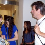 Eric Metzler gives instructions to students before entering MOPA