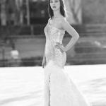 Cheyenne's dramatic gown features sequins and ostrich feathers. Courtesy photo.