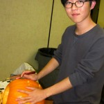 Jimmie and his pumpkin