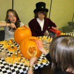 Pumpkin Mad Hatter friends