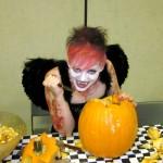 Vampire and her pumpkin