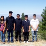 IA Scholarship students from San Jose pose at one of the pullouts on Hwy. 243. They said they'll miss the scenery.