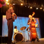 (from L) Lake, Ashi and Alejandro, from another event. Lake is among the jazz musicians who will play on Tuesday night.