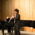 Shen on clarinet with Nelms on piano