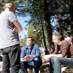 Members of So Percussion in Idyllwild, Jason, Adam and Eric in Idyllwild.