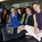 Five of the seven dancers from IA who auditioned for the upcoming Spotlight Awards