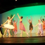 (from L) Cinderella (Madison) celebrates with Lani (fair godmother) and the fairies