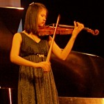 14-year-old violinist Manjie said that she wasn't nervous