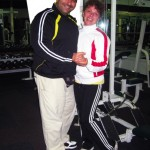 Willy Latzo and wife Ramona in workout attire