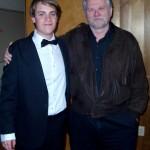 (from L) Seann and Kurt Snyder, his teacher