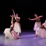 Ballet dancers during student choreography last year.
